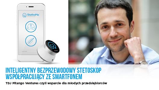 Inteligentny bezprzewodowy stetoskop współpracujący ze smartfonem