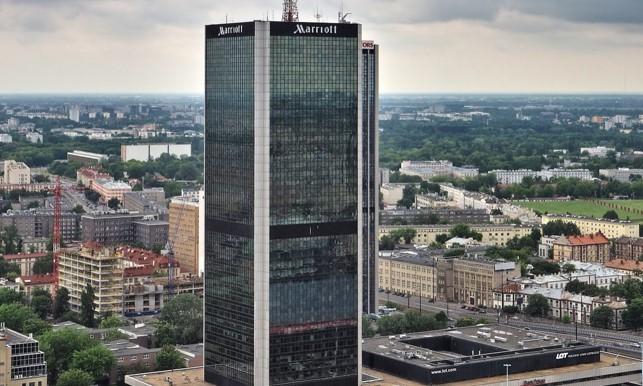 Hotel Marriott przy Al. Jerozolimskich 65/79 w Warszawie