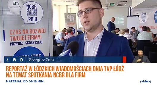 Reportaż w łódzkich wiadomościach dnia TVP Łódź na temat spotkania NCBR dla firm- video