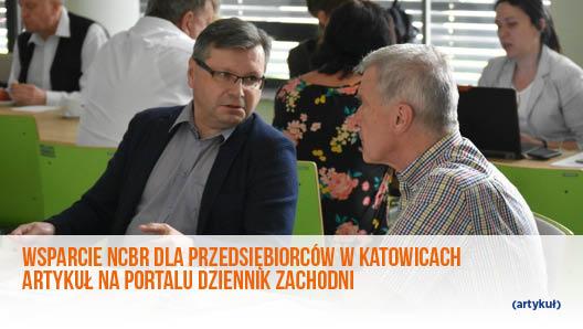 Wsparcie NCBR dla przedsiębiorców w Katowicach – artykuł na portalu dziennik zachodni